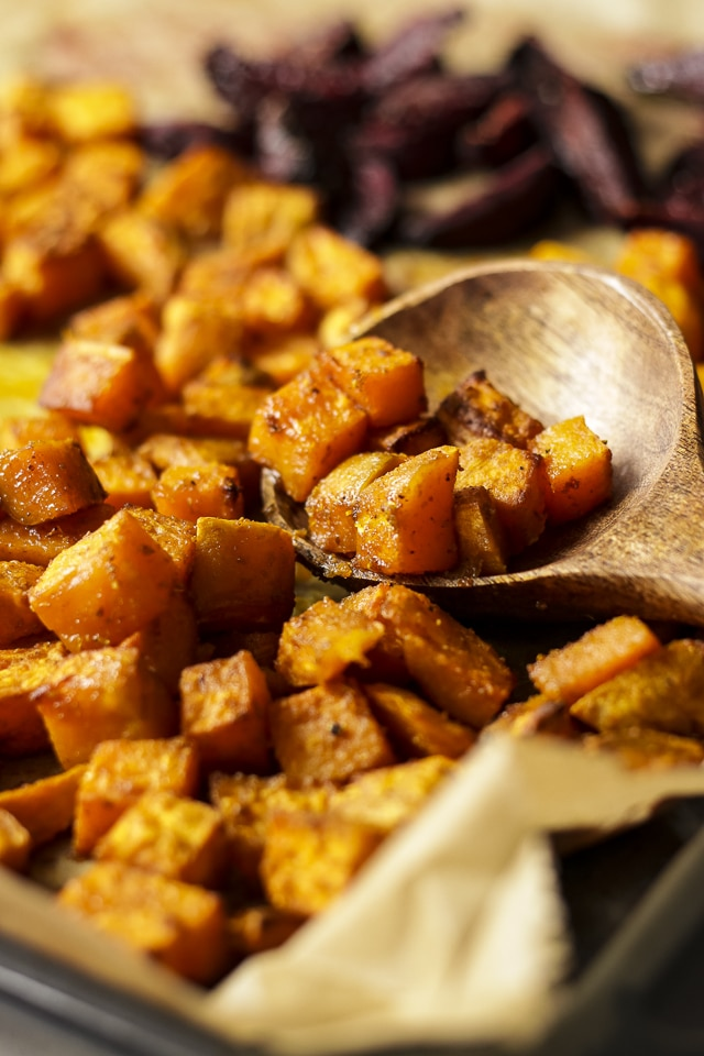Roasted Sweet Potatoes for Vegan Bowls