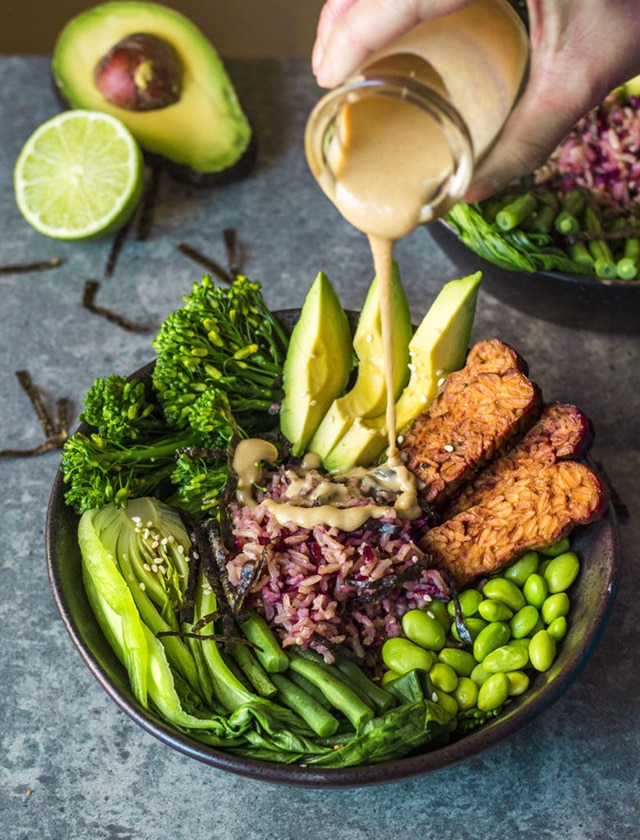 Asian Greens and Tempeh Buddah Bowl