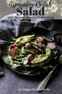 Asparagus Radish Salad with Honey Mustard Dressing Pin