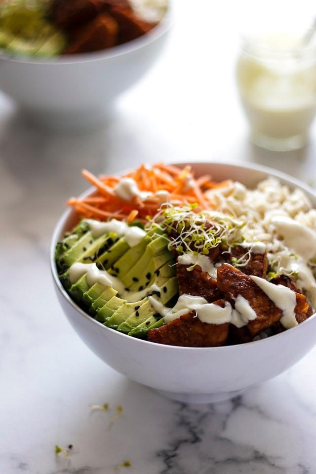 Vegan Rice Bowl with Tempeh
