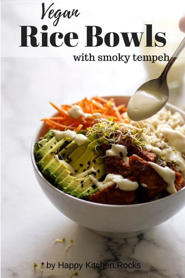 Vegan Rice Bowls Pinterest Image