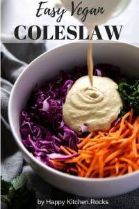 Vegan Coleslaw Pinterest Image