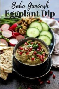 Eggplant Dip Pinterest Image