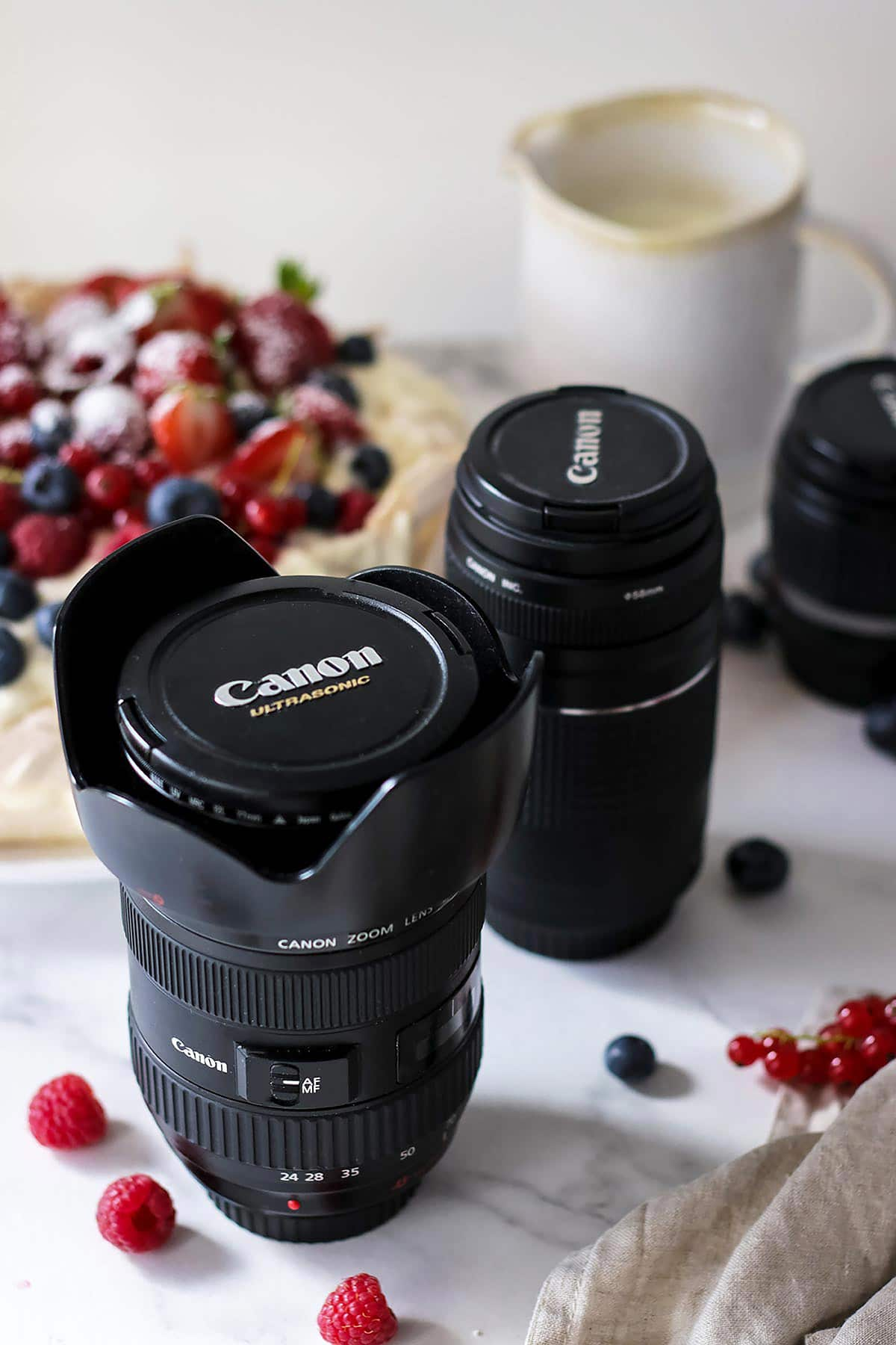Lenses for Photographing Food in a Row