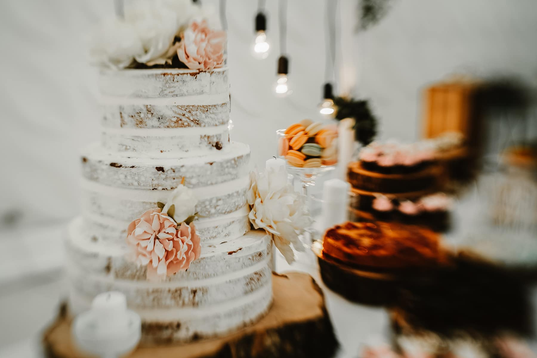 Wedding Cake Photographed with a Tilt Shift Lens
