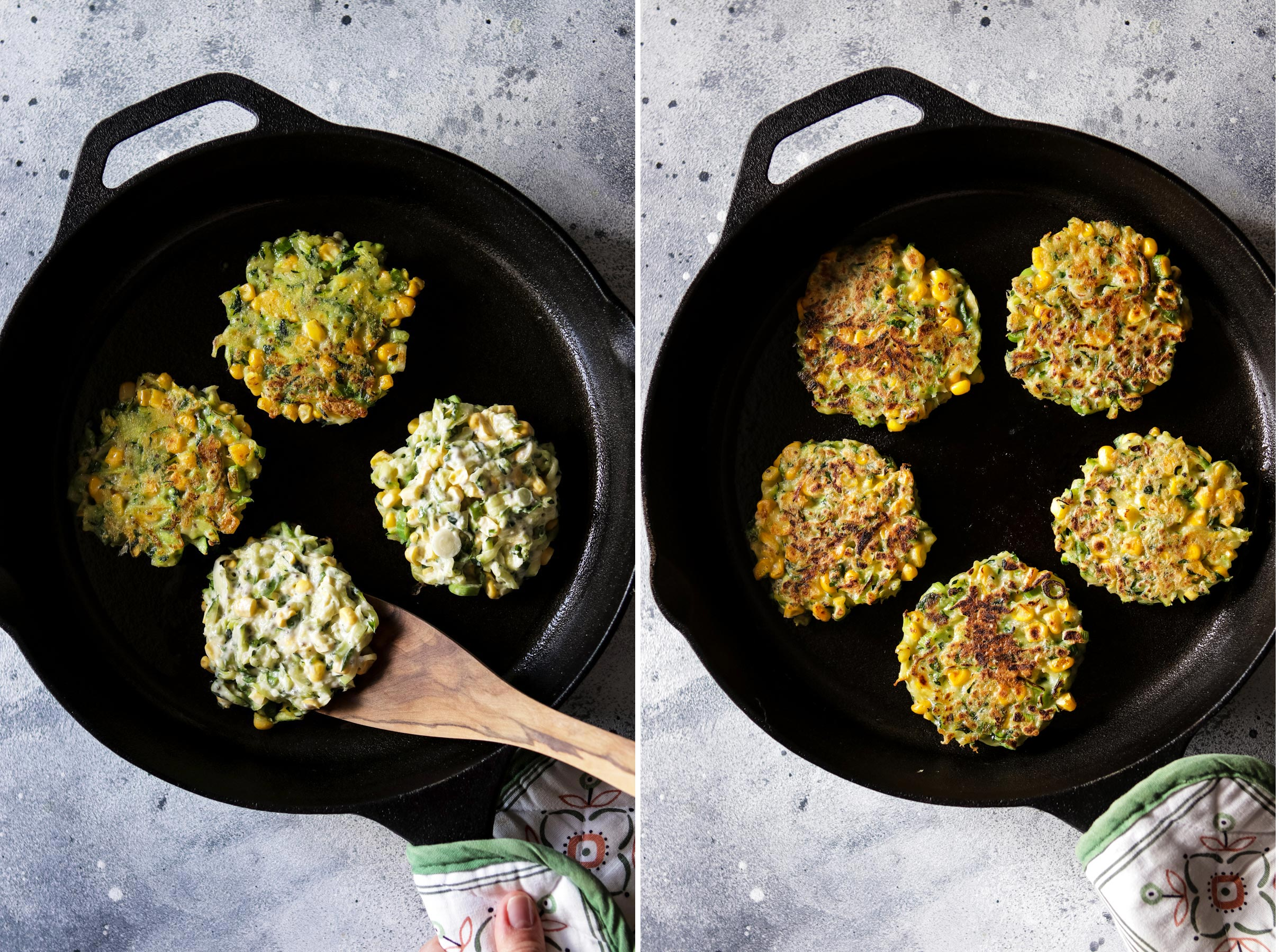 Fritters in a Skillet