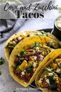 Grilled Corn Tacos with Zucchini Pinterest Pin