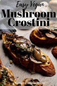 Vegan Mushroom Crostini Pinterest Image