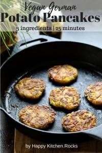 German Potato Pancakes Pinterest Image.