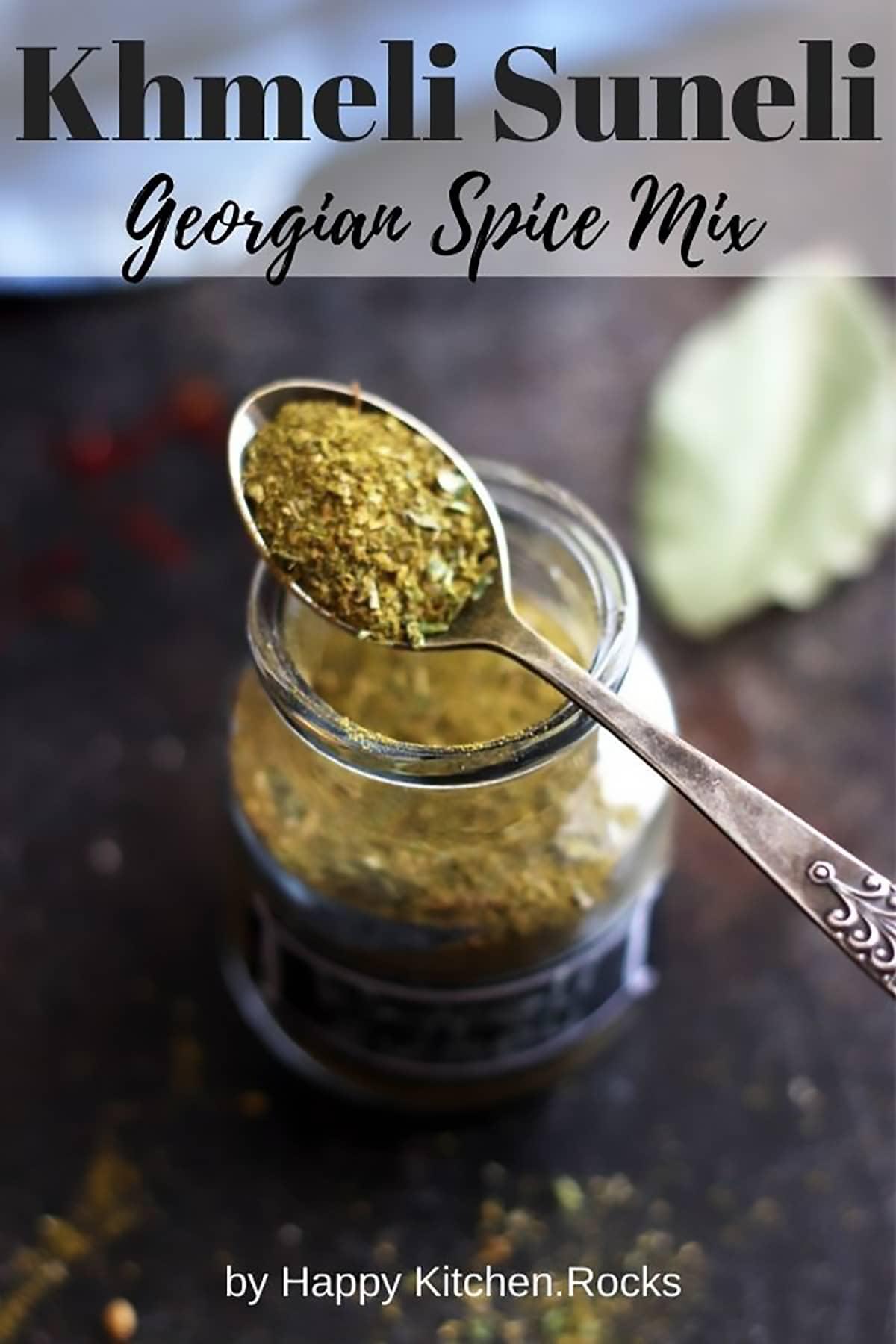 Khmeli Suneli Spice Mix Pinterest Image